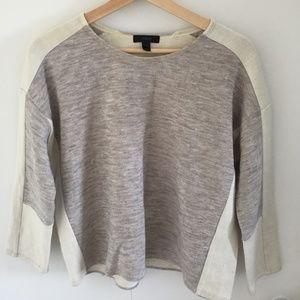 J. Crew Dolman Sweater Sweatshirt Grey and Ivory